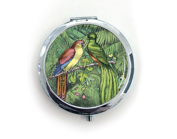 miroir de poche oiseaux trangers imagerie d pinal. Black Bedroom Furniture Sets. Home Design Ideas