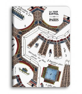 "Cahier de notes A5 ""Tour Eiffel"""