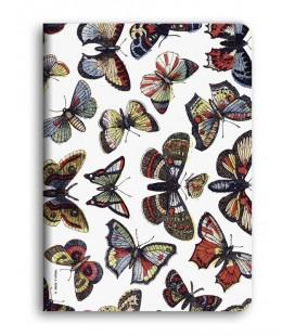 """""""Papillons"""" Cahier piqué avec couture A5"""