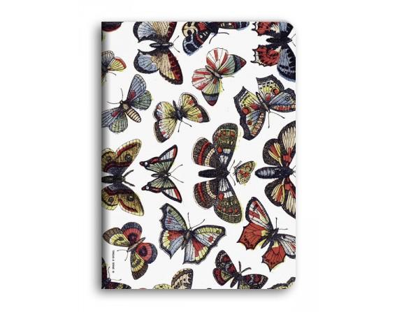 """""""Papillons"""" Carnet piqué avec couture A5"""