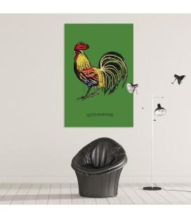 Le coq domestique - support premium