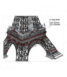 "Lot de 25 sets de table ""Tour Eiffel"""