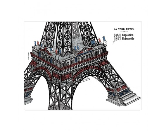 """Lot de 25 sets de table """"Tour Eiffel"""""""