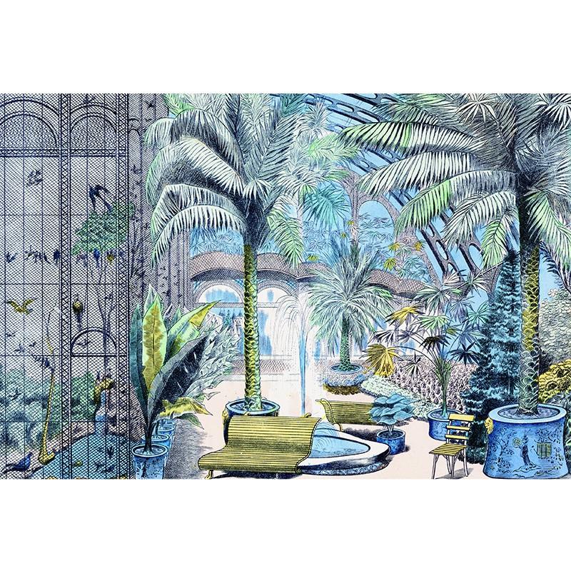 Jardin dhiver décor panoramique