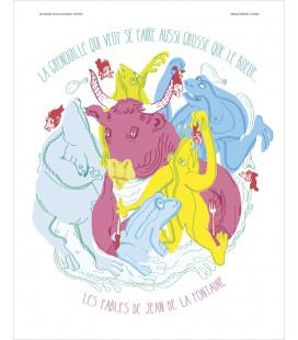 """Affiche """" La Grenouille (…) que le bœuf """""""