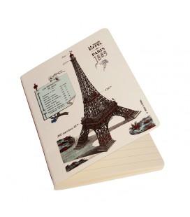 """""""Tour Eiffel"""" Carnet piqué avec couture A6"""