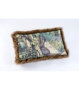 Coussin Fond de forêt - mouton doré (32x52 cm)