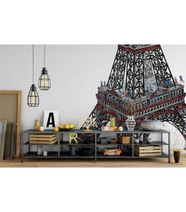 Tour Eiffel 1889 - décor panoramique