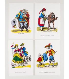 Lot de 4 cartes Images traditionnelles