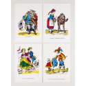 Lot de 4 cartes Images traditionnelles