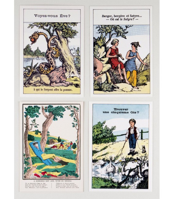 Lot de 4 cartes Devinettes