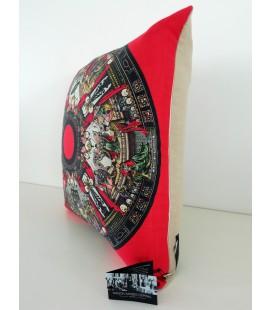 Coussin Scènes japonaises en lin-coton (52x52 cm)