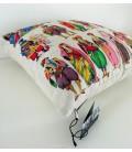 Coussin Costumes en lin-coton (52x52 cm)