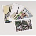Lot de 4 cartes Images d'Epinal traditionnelles