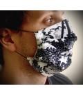 Masque de protection noir&blanc
