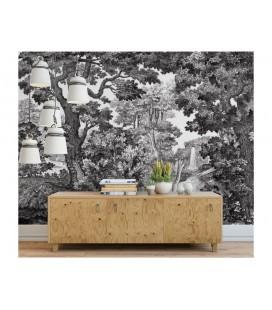 Décor panoramique - Forêt noir & blanc