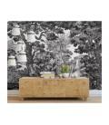 Décor panoramique - hutte noir & blanc