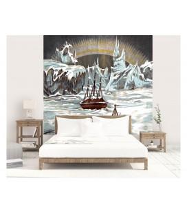 Décor panoramique - expédition arctique