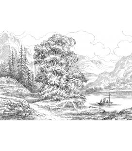 le lac - décor panoramique