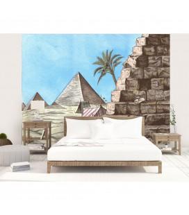 Décor panoramique - pyramides d'Egypte