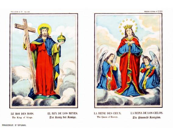 """Carte double """"Roi des rois et Reine des cieux"""""""