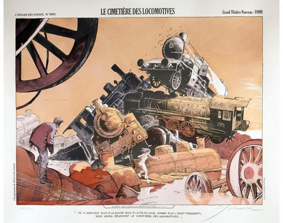 Le Cimetière des locomotives - François Schuiten