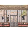 Café de la gare au 19ème s. décor panoramique