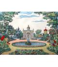 Parc du chateau à la française décor panoramique