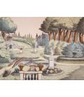 Parc du chateau fort décor panoramique