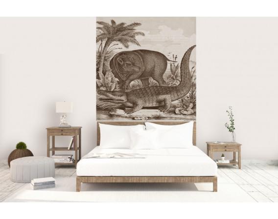 décor panoramique croco sepia