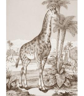 décor panoramique girafe sepia