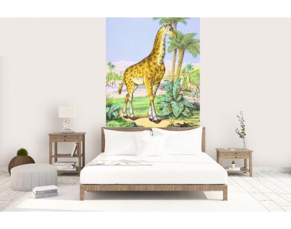 décor panoramique girafe couleur