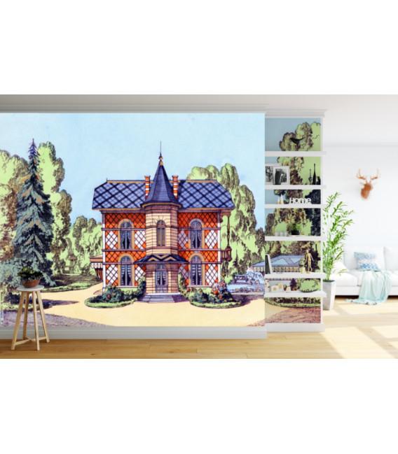 Maison de campagne décor panoramique