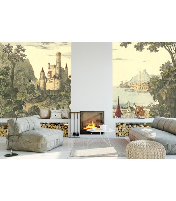 Château de contes décor panoramique
