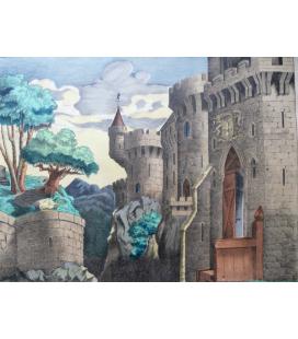 Château Fort décor panoramique