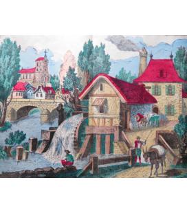 vieux moulin décor panoramique