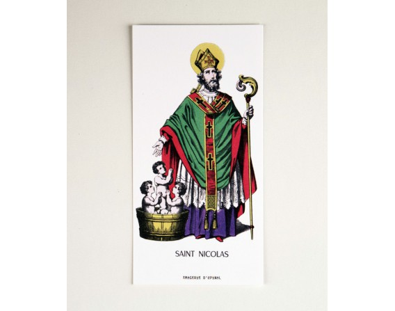 Lot de 5 cartes de correspondance Saint Nicolas
