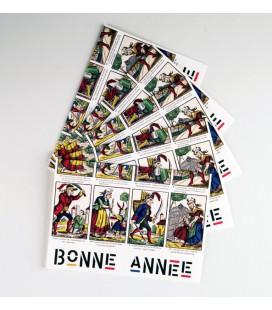 Lot de 5 cartes doubles Bonne Année - Le Croquemitaine et les Garnements