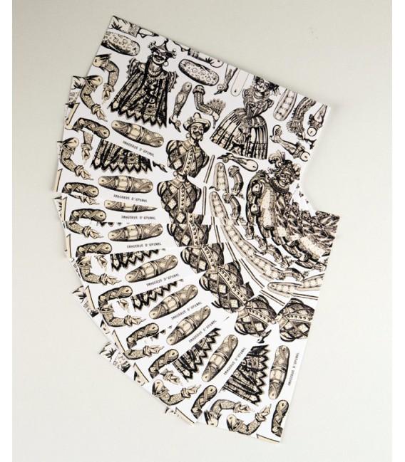 Lot de 10 Cartes de Correspondance - Pantins