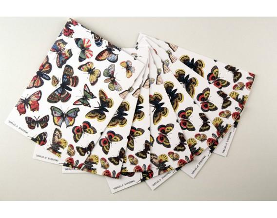 Lot de 10 cartes doubles - Envol de Papillons