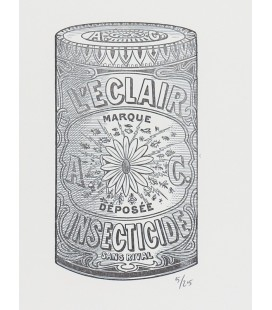 """L'Insecticide éclair - Noir et blanc """"Les réclames"""""""