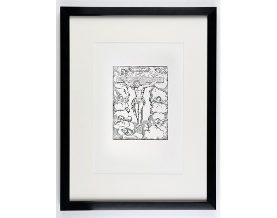 """""""Le Christ"""" en Noir et Blanc - encadré"""
