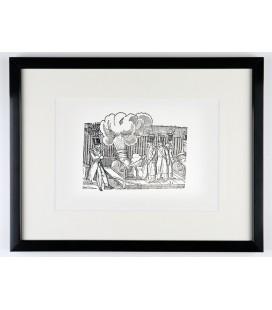 """""""Soldats aux canons"""" en noir et blanc - encadré"""