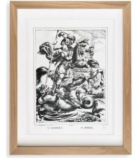 """Lithographie """"Saint Georges"""" encadrée"""