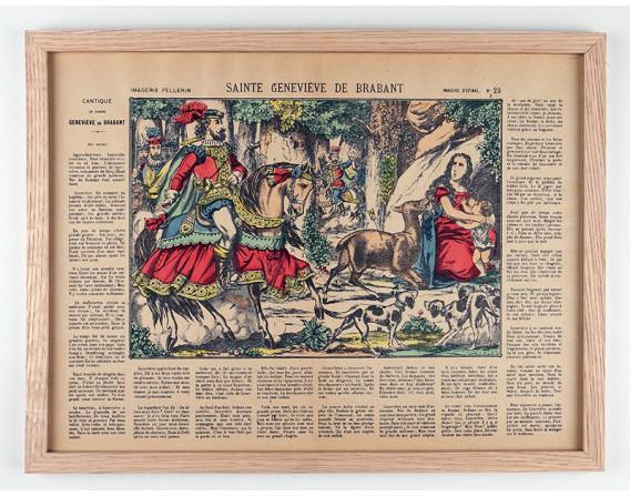 Sainte Genevieve de Brabant encadrée / Collection Tourments