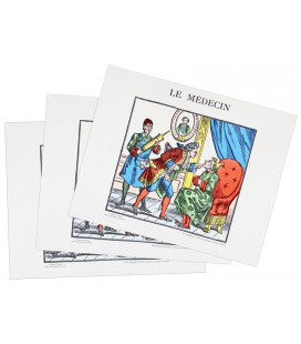 "LOT DE 3 IMAGES ""LE MEDECIN"""