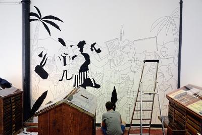 maison images d 39 pinal fresques a l 39 atelier simon bailly. Black Bedroom Furniture Sets. Home Design Ideas