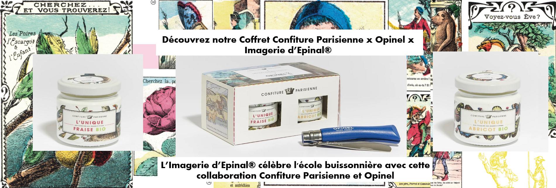 coffret Confiture parisienne Opinel Image d'Epinal